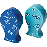 Excelsa Ocean Set Sale/Pepe, Ceramica, Azzurro, 2 Unità