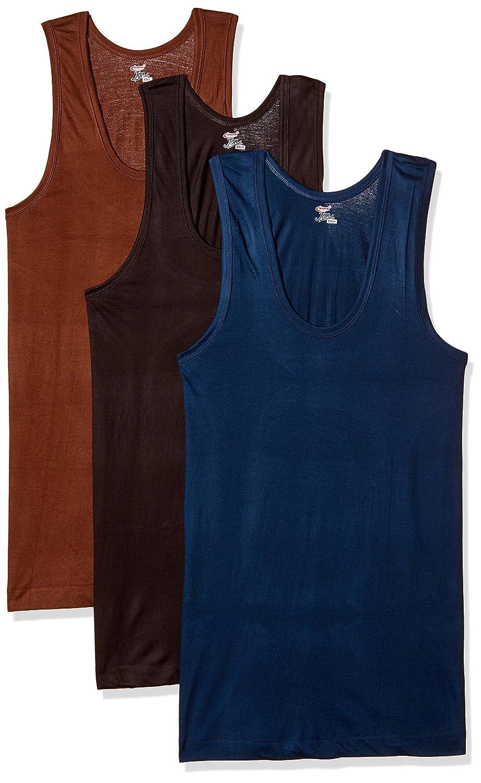 RUPA JON Men's Cotton Vest (Pack of 3)
