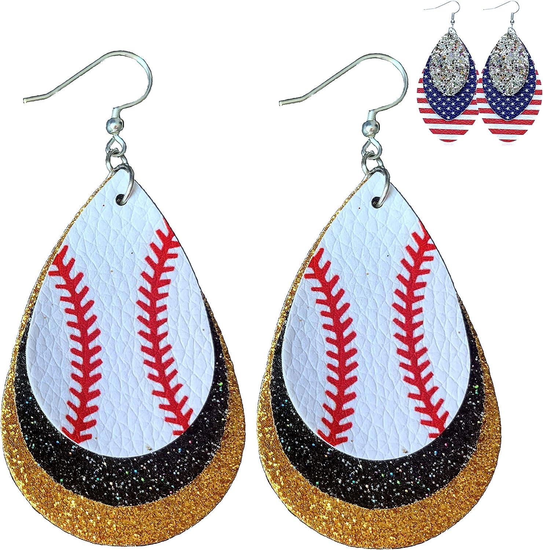 Grab Bags Leather Dangle Earrings