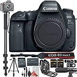 Canon EOS 6D Mark II Digital SLR Camera Body + PRO DigitalAndMore Value Bundle (Monopod + Bag + 2x 64GB Memory + Tripod + Microphone + Remote + Card Reader + MORE!)