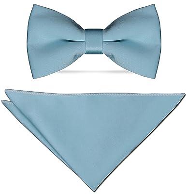 Mosca Hombre Azul Claro de satén fina inoxidable con inserción ...
