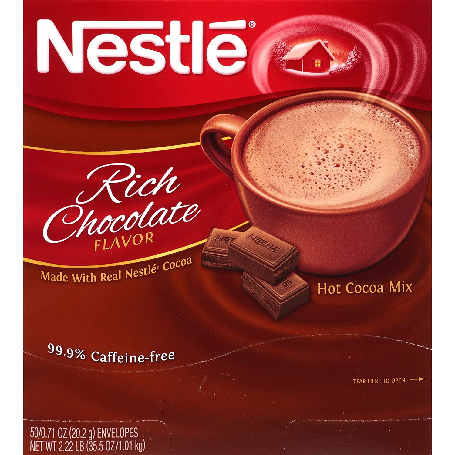 Amazon.com : Nestle Hot Cocoa Mix, Rich Chocolate, 50 Count, 0.71 ...