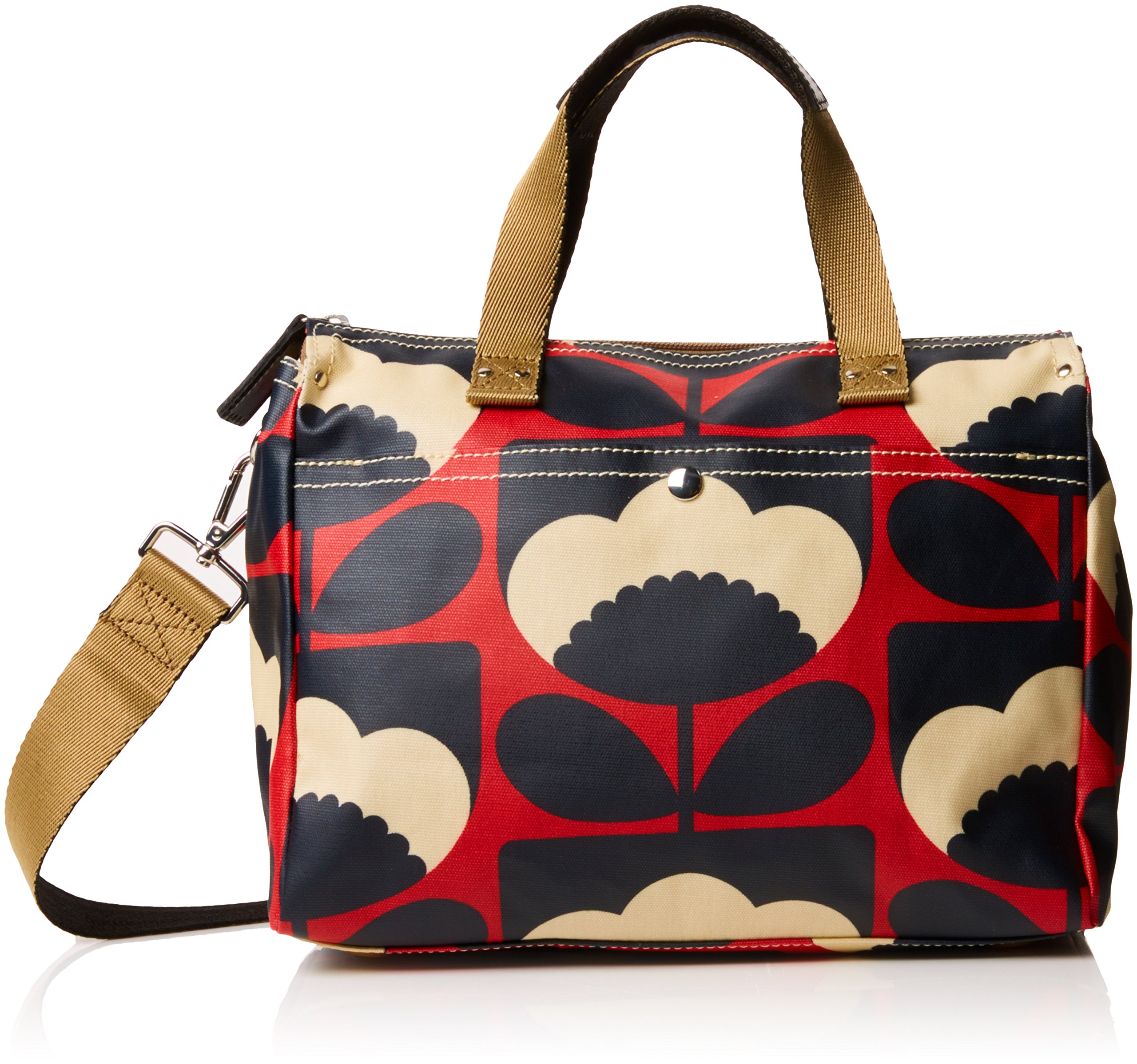 Orla Kiely Women's Spring Bloom Small Zip Messenger, Poppy