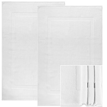Amazon Com Alurri Bath Mat Set 2 Pack White 20 X30 Shower