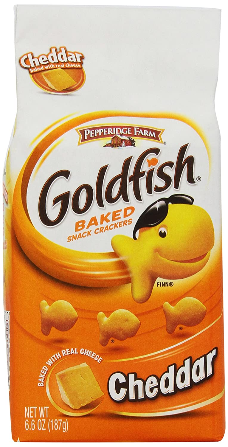 Pepperidge farm three cheese snack sticks for Gold fish snacks