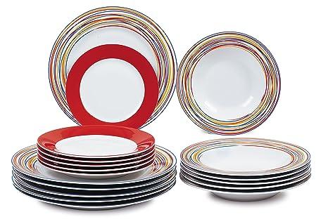 borella piatti  Borella Casalinghi 23601 Servizio Piatti, Porcellana,, 18 unità ...