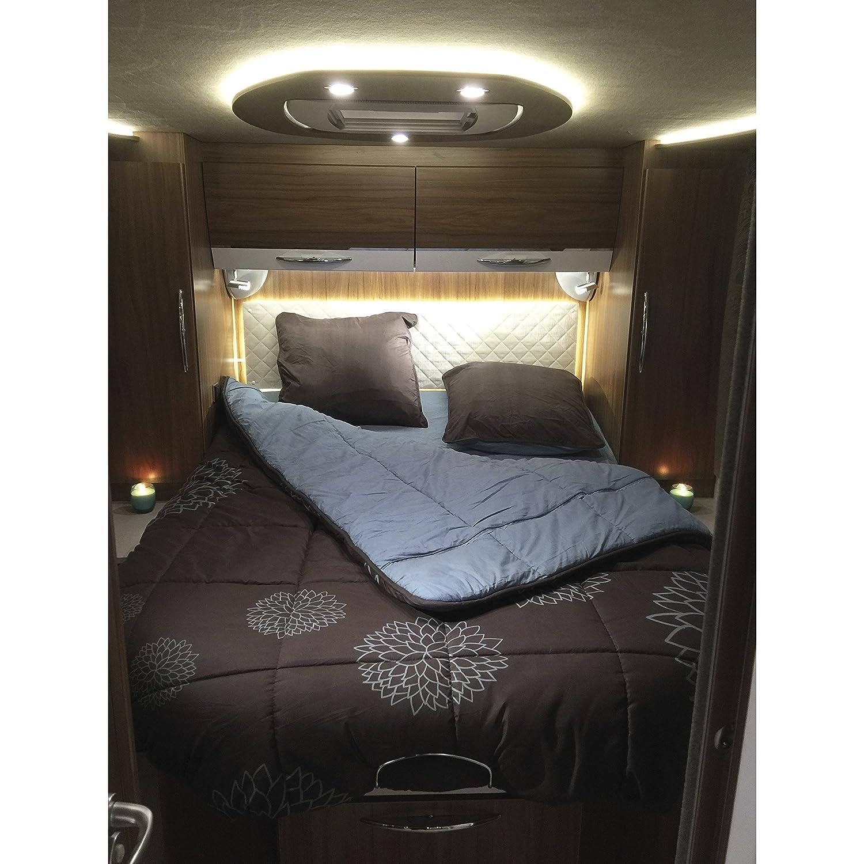 Lit central INCASA Lit pour Camping-car Cosy 140 x 190 cm
