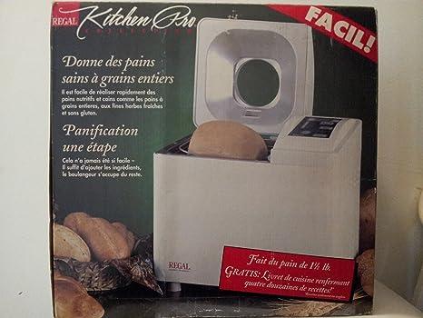 Amazon.com: Regal Modelo Panificadora automática Cocina Pro ...