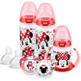 NUK Disney Minnie/Mickey Mouse Bottle, Cup & Soother Set  (6-18 months, design may vary)