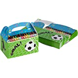 ABCD Treat Boxes - 24-Pack Paper Party Favor Boxes, Soccer Design Goodie Boxes for Birthdays and Events, 2 Dozen Party Gable