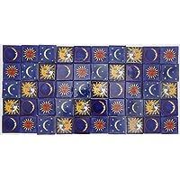 Pack de 50 Azulejos Mexicanos Artesanales de Talavera