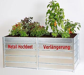 Verlangerung Fur Metall Hochbeet 84 X 84 X 73 5 Cm Amazon De Garten