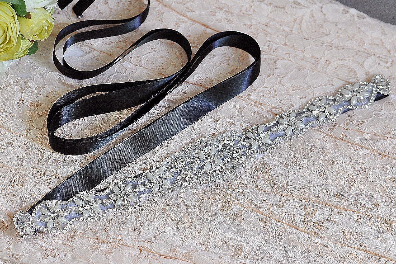 THK-Wedding Crystal Wedding Sash Bridal Belt Bridal Sash Wedding Belt for Wedding