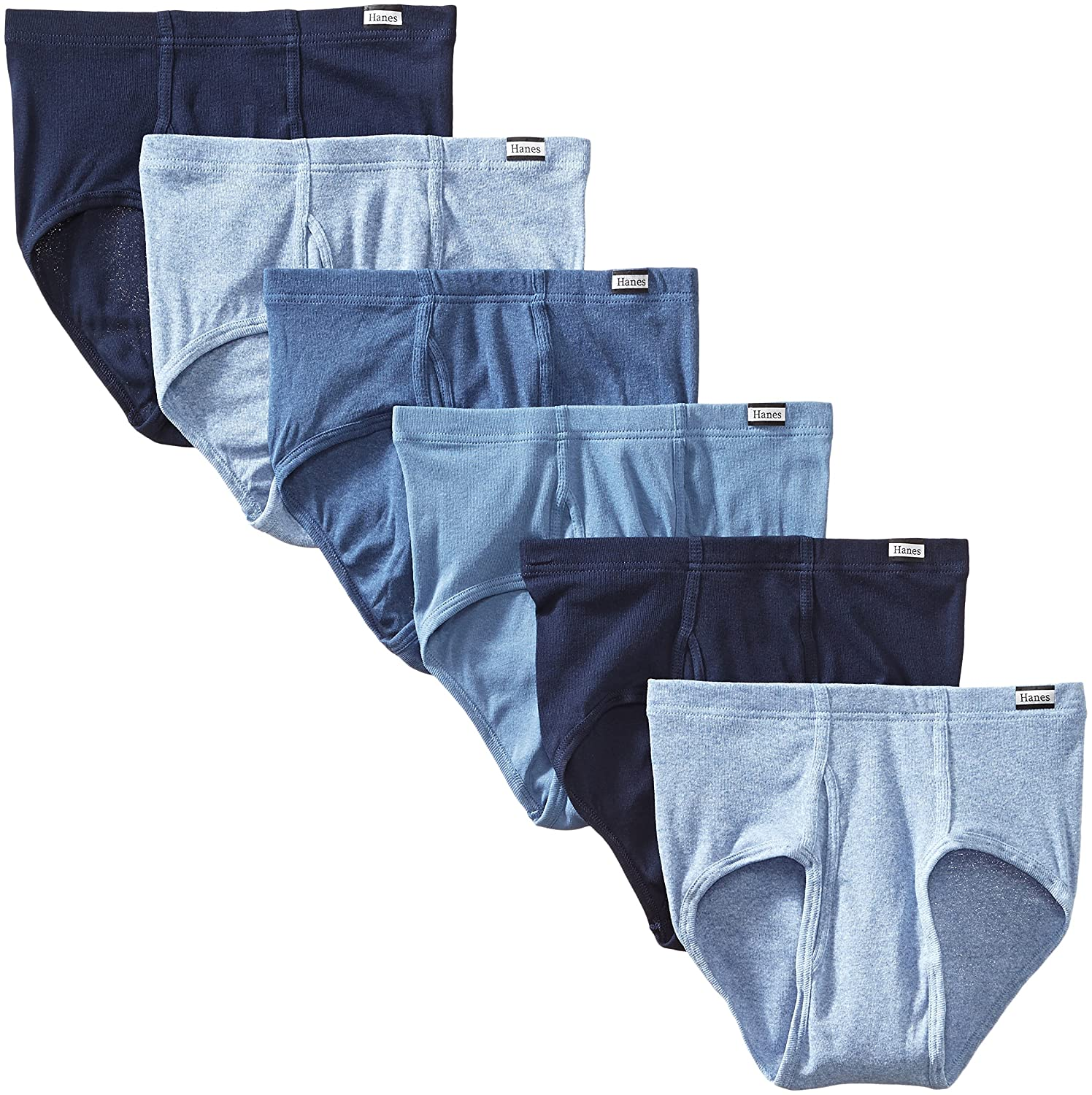 Hanes Men's Tagless No-Ride-Up Briefs with ComfortSoft Waistband, 6-Pack 7820N6