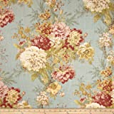 Waverly Ballad Bouquet Blend Robins Egg Fabric By The Yard