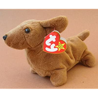 TY Beanie Babies Weenie the Weiner Dog Plush Toy Stuffed Animal: Beauty