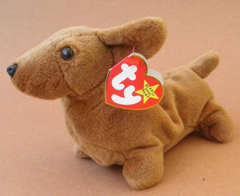 Amazon.com  TY Beanie Babies Weenie the Weiner Dog Plush Toy Stuffed  Animal  Beauty cd62e110fa4