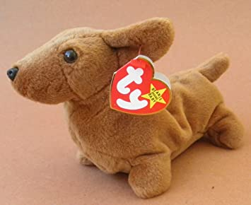 db572d9b8eb Image Unavailable. Image not available for. Color  TY Beanie Babies Weenie  the Weiner Dog ...