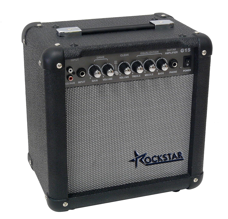 Amplificador combo para guitarra electrica ROCKSTAR G15 con 15W de Rockmusic: Amazon.es: Instrumentos musicales