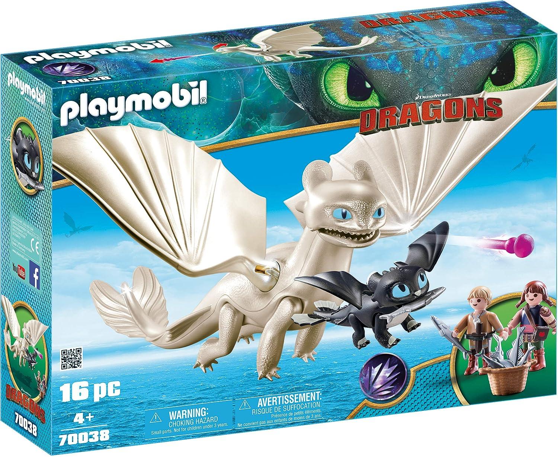 PLAYMOBIL DreamWorks Dragons Furia Diurna y Bebé Dragón con Niños ...