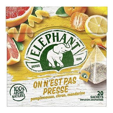 Elephant Infusión De Pomelo Mandarina Limón 20 Bolsas 38G ...