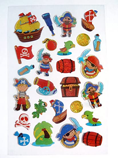 Amazon.com: Minilabel pirata Pegatinas Kids/Childrens ...