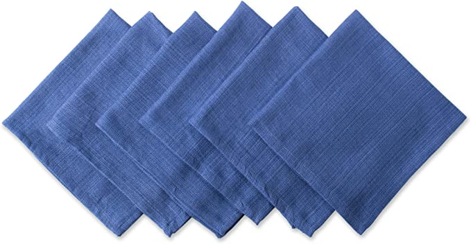 Dii Variegated Tabletop Napkin Set Nautical Blue 6 Count Home Kitchen Amazon Com