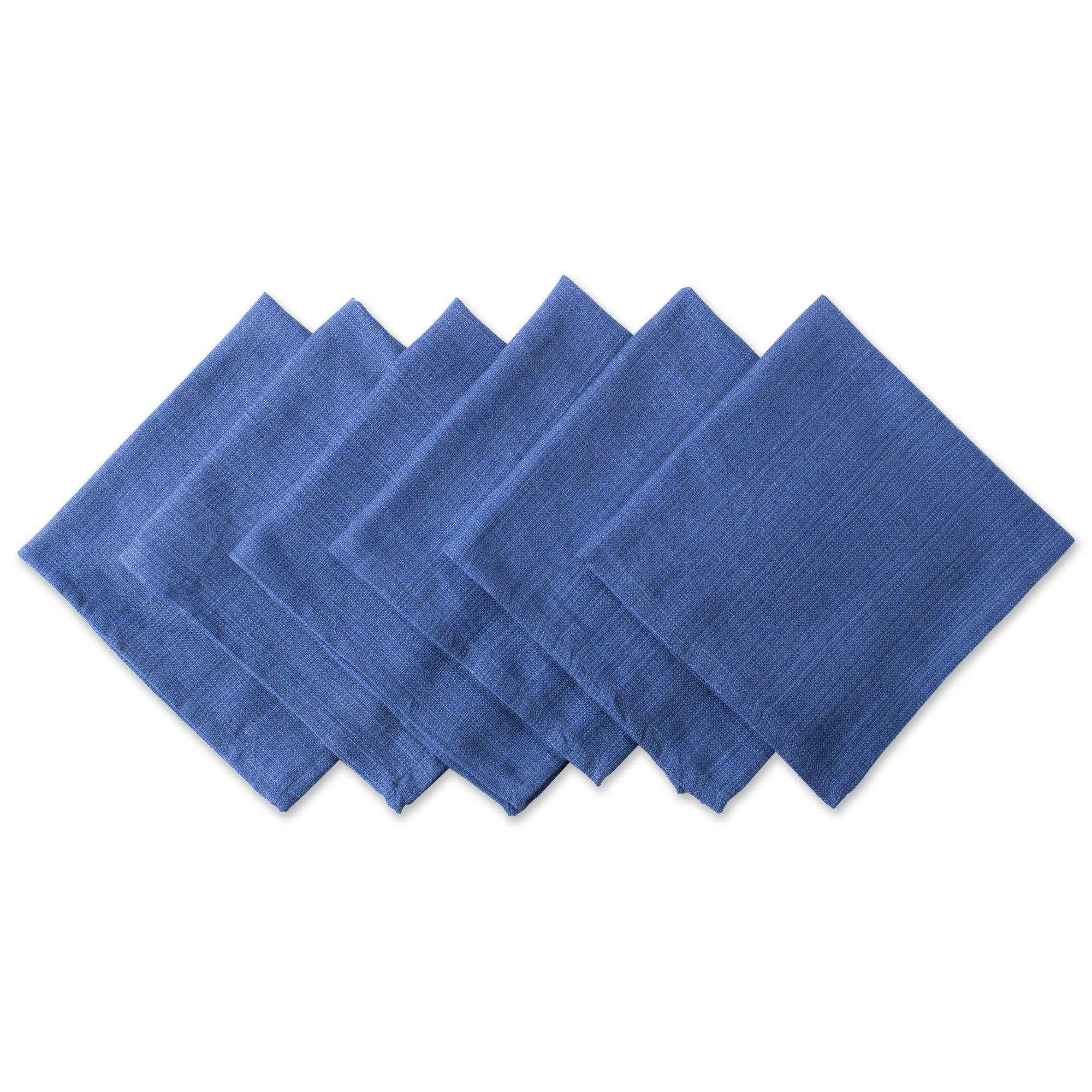 DII 100% Cotton, Oversized Basic Everyday 20x 20'' Napkin, Set of 6,Nautical Blue