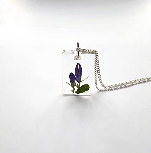 Real violet necklace pressed flower pendant green leaves in clear real violet necklace pressed flower pendant green leaves in clear resin mozeypictures Choice Image