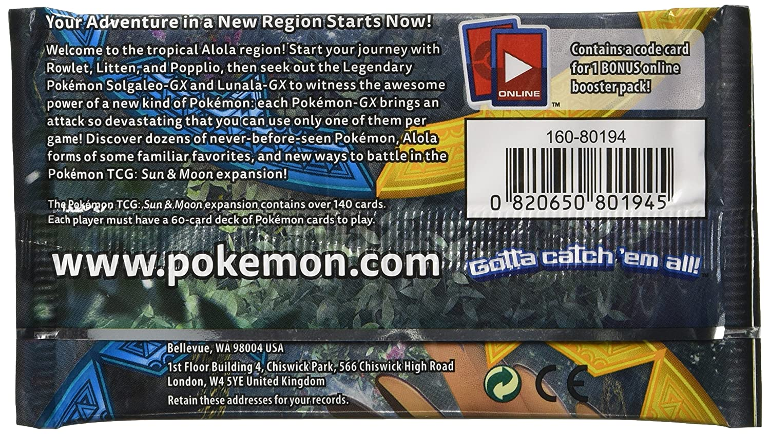 Pokemon TCG: Sun & Moon, Collectors Album And Booster Pack