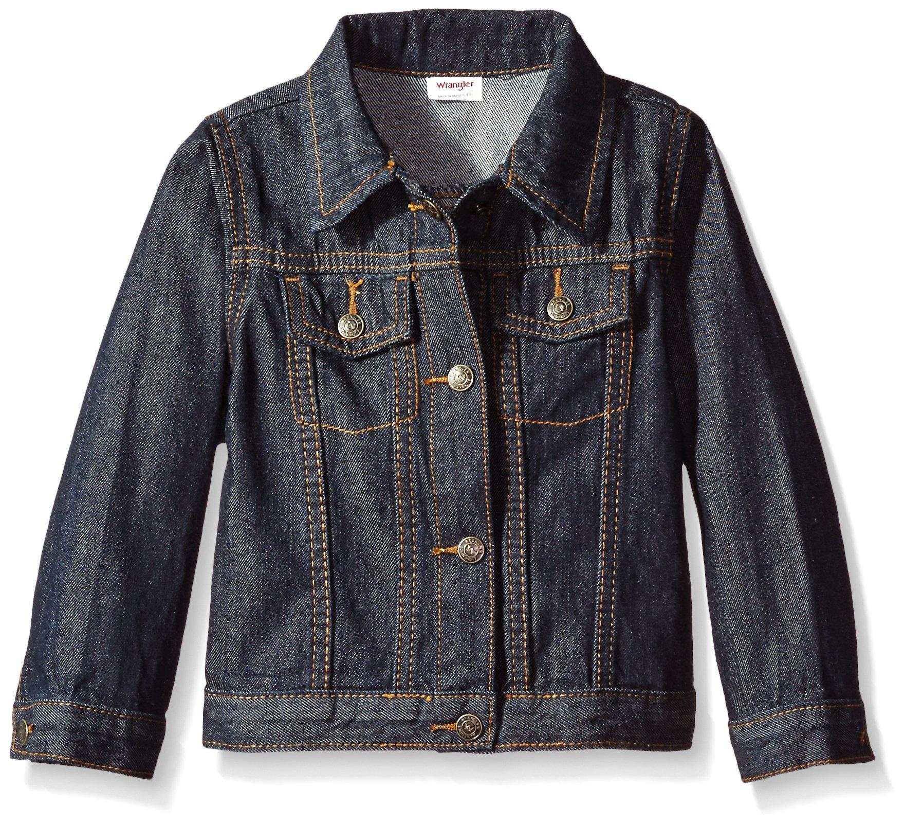 Wrangler Toddler Boys' Authentics Denim Jacket, Ocean Deep, 5T by Wrangler