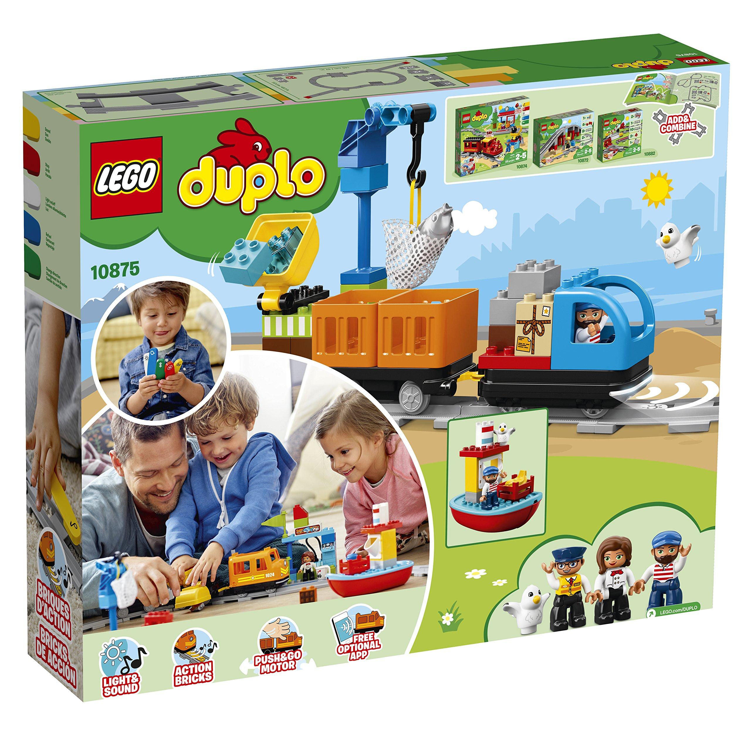 LEGO DUPLO Cargo Train 10875 Battery-Operated Building Blocks Set, Best Engineering and STEM Toy for Toddlers (105 Pieces) (Amazon Exclusive) by LEGO DUPLO Trains (Image #5)