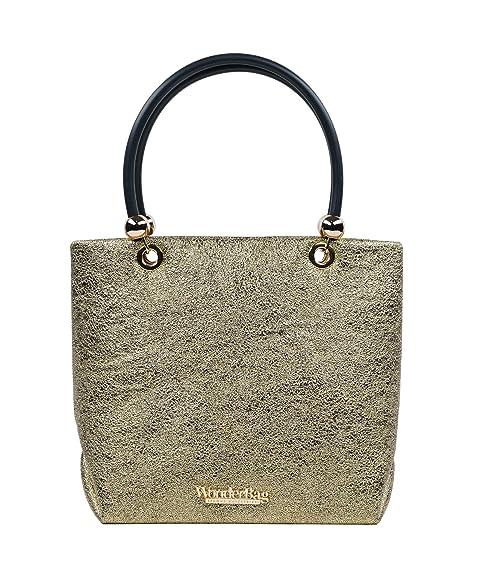 Wonderbag Borsa a mano oro made in Italy: Amazon.it: Scarpe