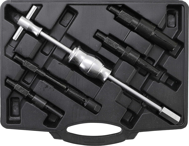 Kraftmann 8598 | Juego de extractores de rodamientos internos ciegos con martillo deslizante | 5 piezas