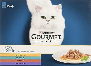Gourmet Perle filettini (Salsa para El Gato, con Pavo, Tonno, Pato,