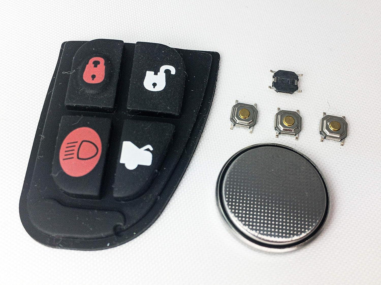 Automobile Locksmith Diy Reparatur Set Für Jaguar 4 Tasten Fernbedienungsschlüssel Auto