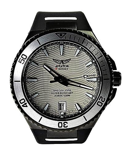 Aviator Special Ops Diver Reloj de Pulsera de Cuarzo analógico Militar de edición Limitada, 200 m: Aviator F-Series: Amazon.es: Relojes