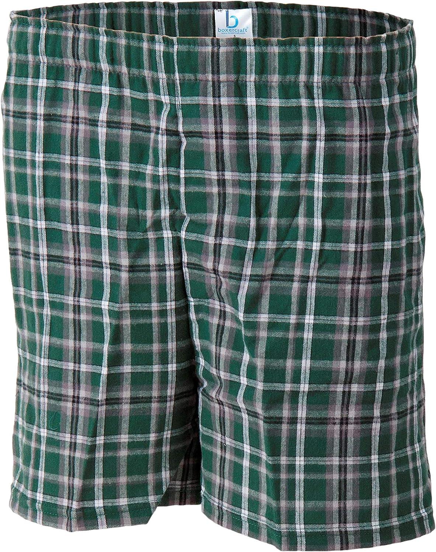 PAN JOY Black Blue Plaid Mens Boxer Briefs Stylish Underwear Shorts Soft Underpants