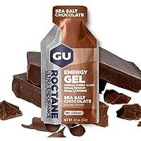 GU Roctane Ultra Endurance Energy Gel, Sea Salt Chocolate (Chocolat Sel de Mèche) Boîte de 24 x 32 g