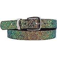 EANAGO Cinturón infantil con purpurina 'Eiskristall multicolor/plateado' para niñas (guardería y primaria, 5-10 años…