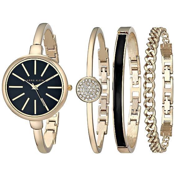 7048b4e447e5 Anne Klein AK 1470GBST Set de reloj y brazalete para mujer  Anne ...