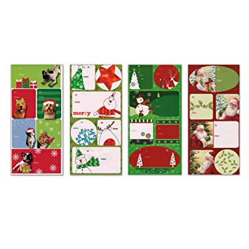 Amazon.com: 96 Count Peel-n-Stick Christmas Gift Tag Labels 24 ...