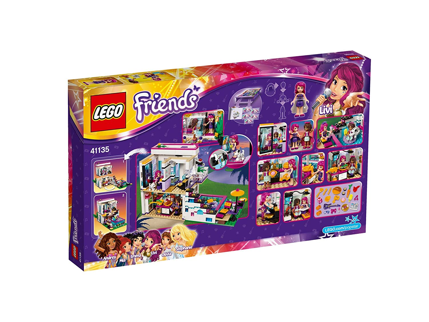 Buy Lego Livis Pop Star House Multi Color Online At Low Prices In