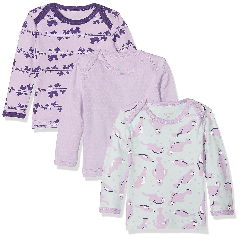 Care Camiseta Manga Larga Bebé -Niñ as, Pack de 3 550140