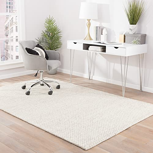 Jaipur Living Karlstadt TEXTURED Solid White Area Rug 9 X 12