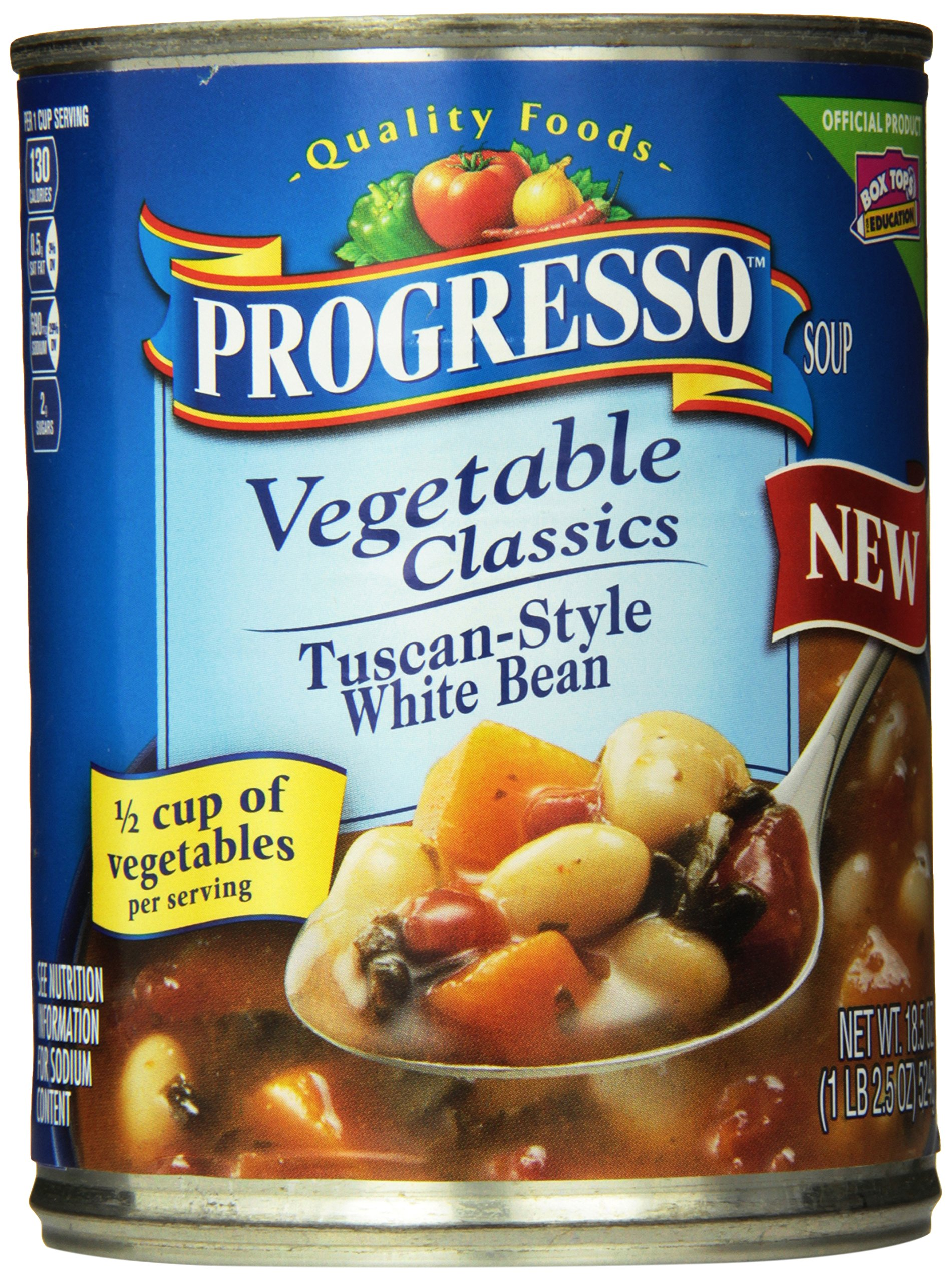 Progresso Vegetable Classics Tuscan-Style White Bean Soup 18.5 oz. Can (pack of 12)