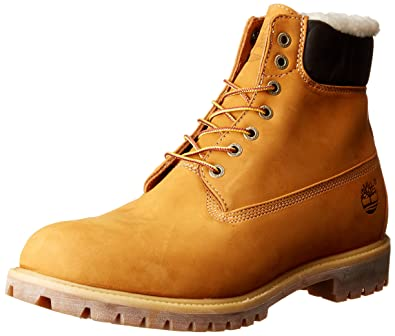 d7b252e1343a Timberland Herren 6 In Premium Waterproof Warm Lined Stiefel, Gelb (Wheat  Nubuck),