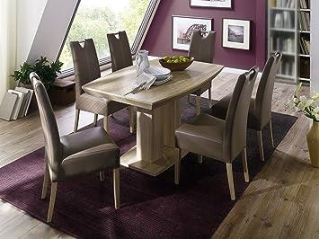 Cm Sägerau 6 Eiche Stühlen Set Esszimmer Tisch 90 Mit 140 X exWBdorC