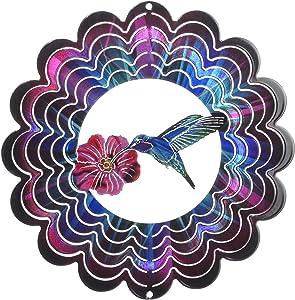 Next Innovations Hummingbird Wind Spinner, Fuchsia, Small