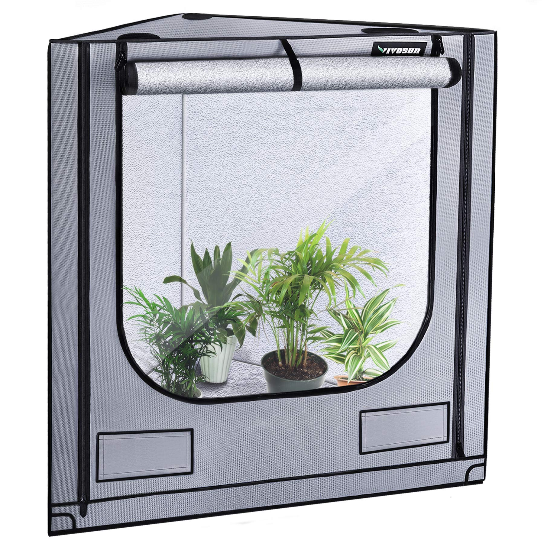 VIVOSUN Triangle Grow Tent with Bigger View Window for Indoor Plant Growing 41''x57''x71''